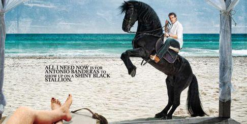Рекламный плакат: А.Бандерас - новое лицо Iberostar Hotels & Resorts