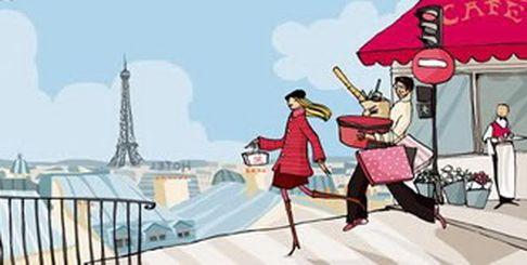 """Рисунок Ximena Maier """"Путешествие в Париж"""""""